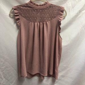 Lily White Blush Pink Blouse